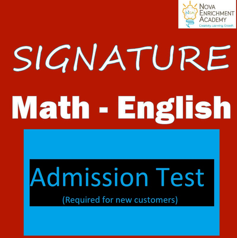 Admission Test - Math & English - new customers only